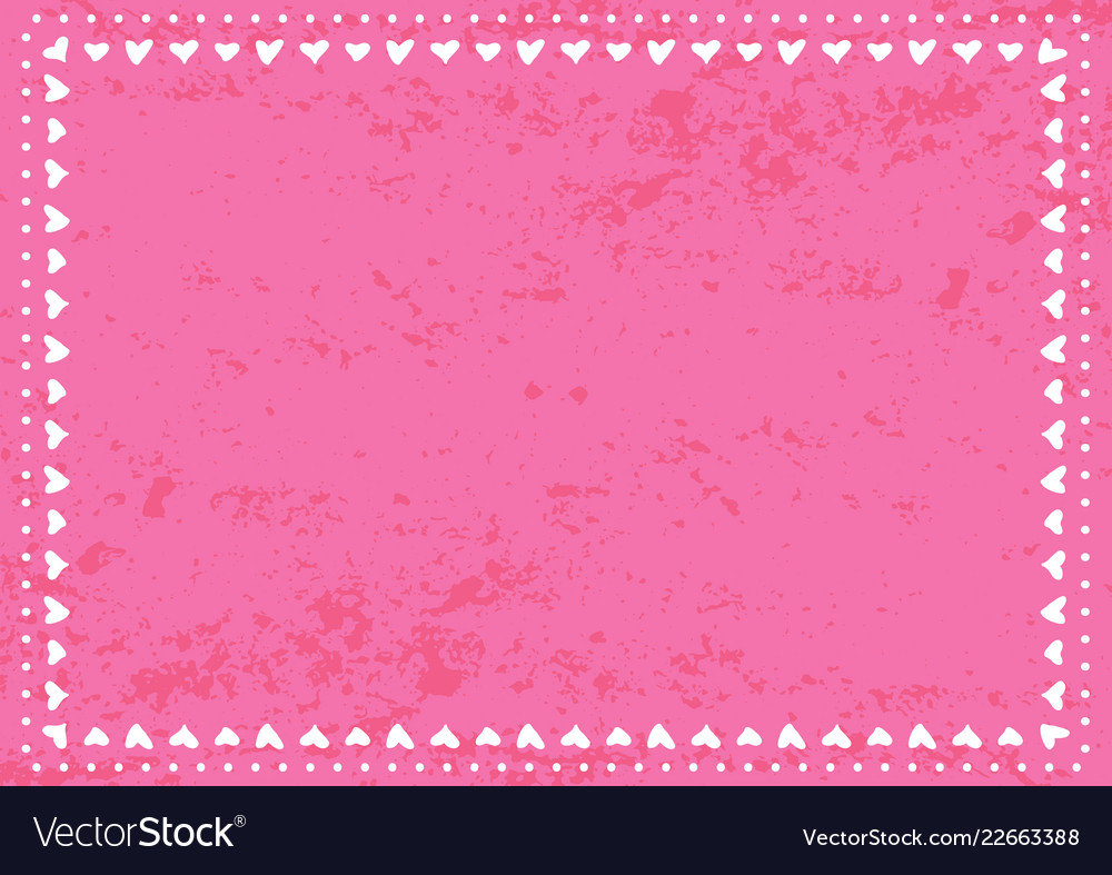 Pink textured background with white border of dots