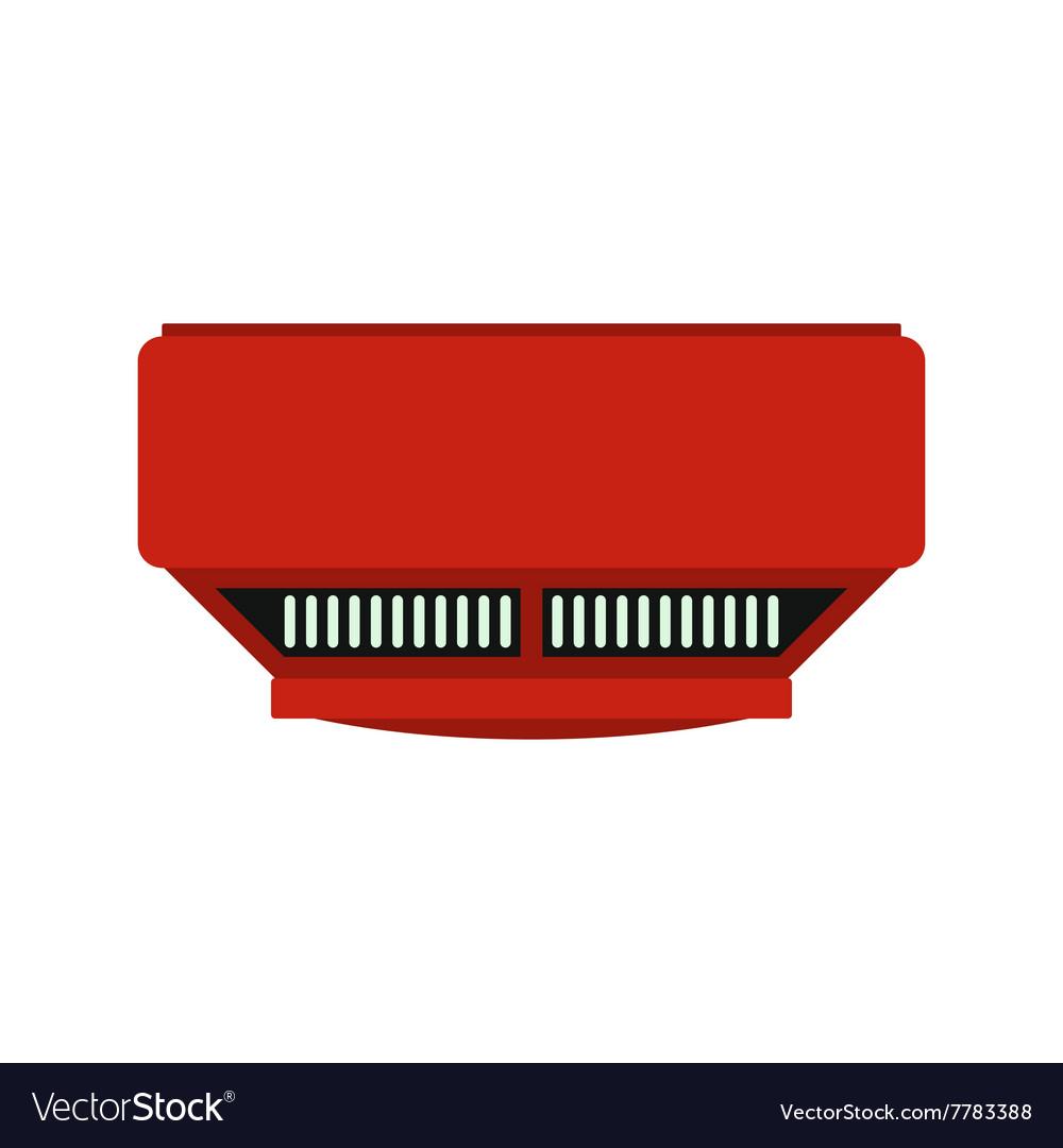 Smoke detector icon vector image