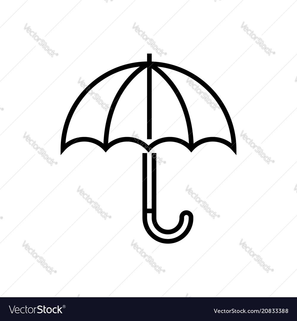 Umbrella - line design single isolated icon