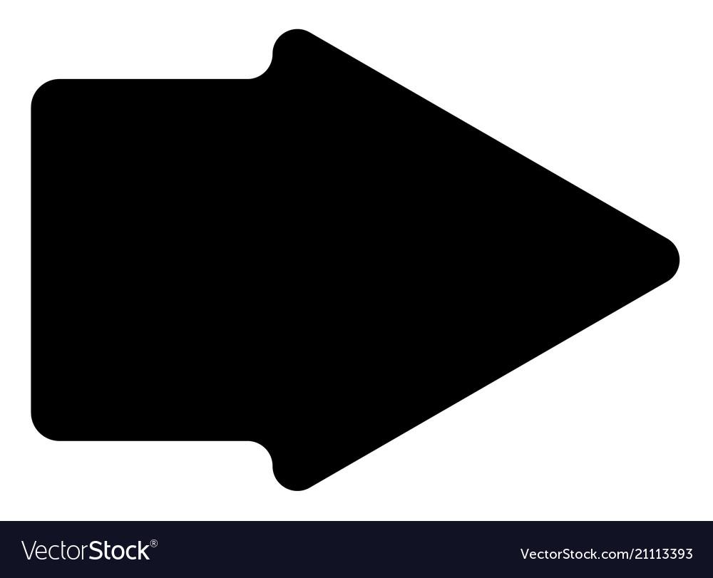 Arrow icon in trendy flat style on white