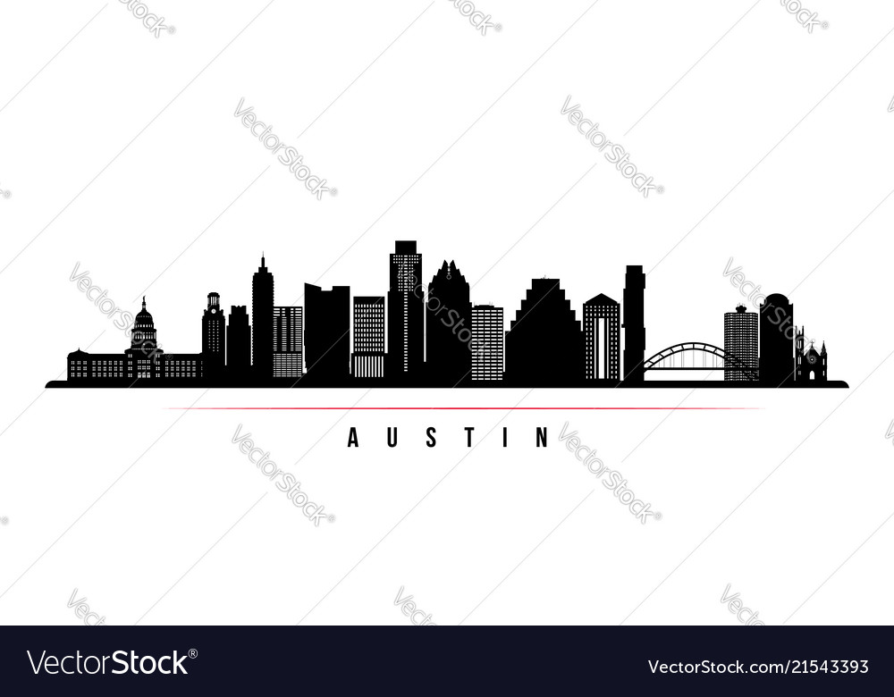 Austin city skyline horizontal banner