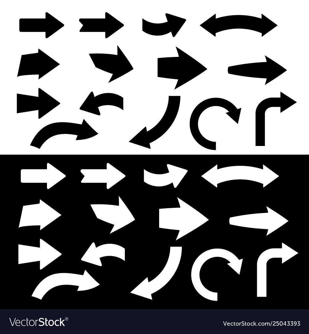 Black and white arrow icon