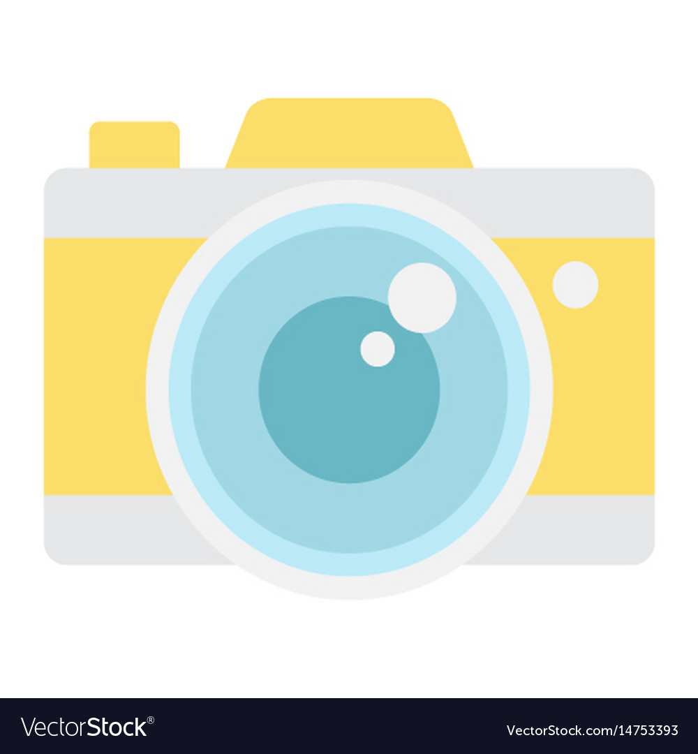 Camera flat icon travel and tourism