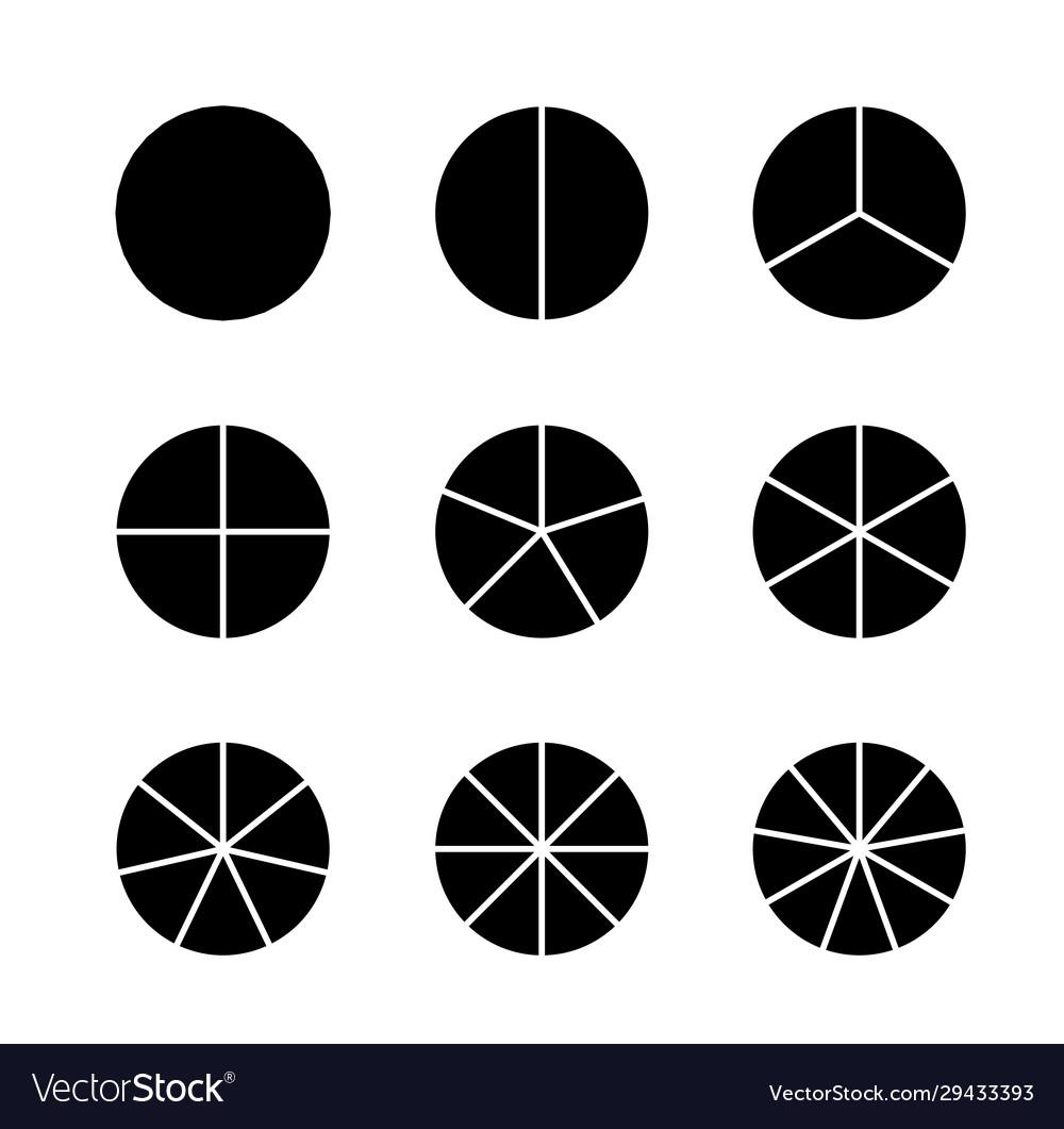 Circle segments set infographic