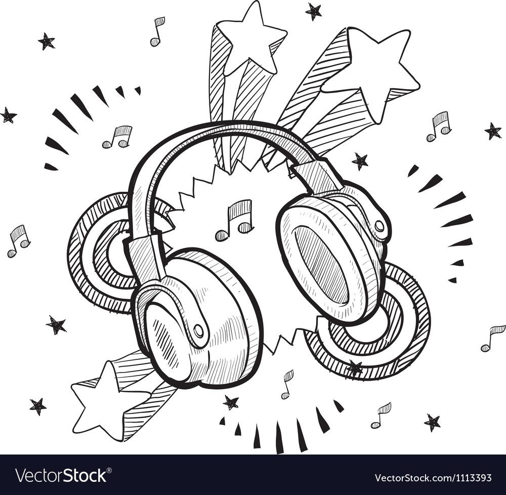 Doodle pop headphones audio music