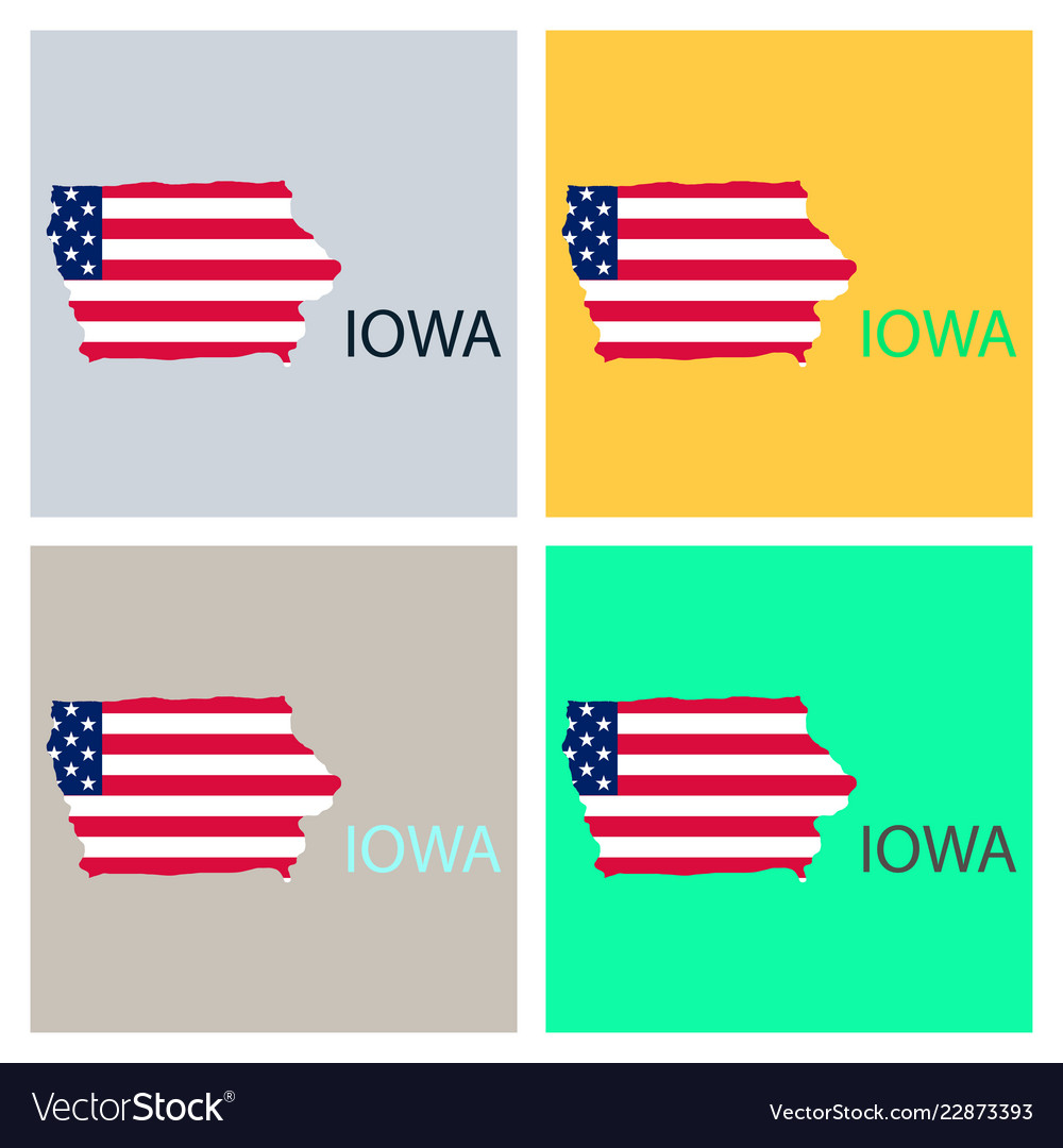 image relating to Printable Map of Iowa named Iowa place of the us with map flag print upon map vector picture upon VectorStock