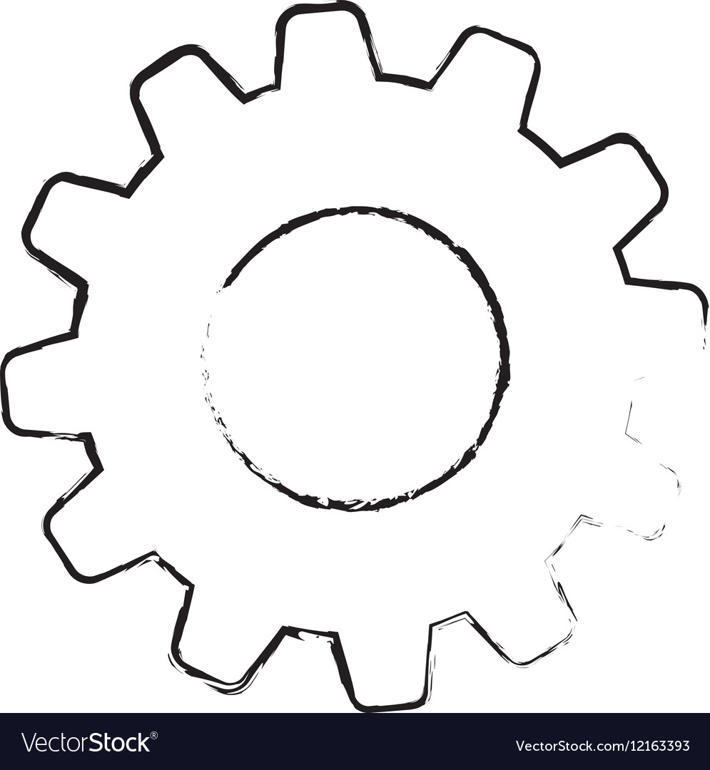 Isolated gear symbol