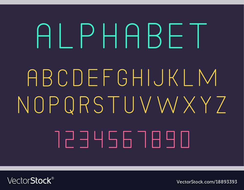 Minimal font and alphabet