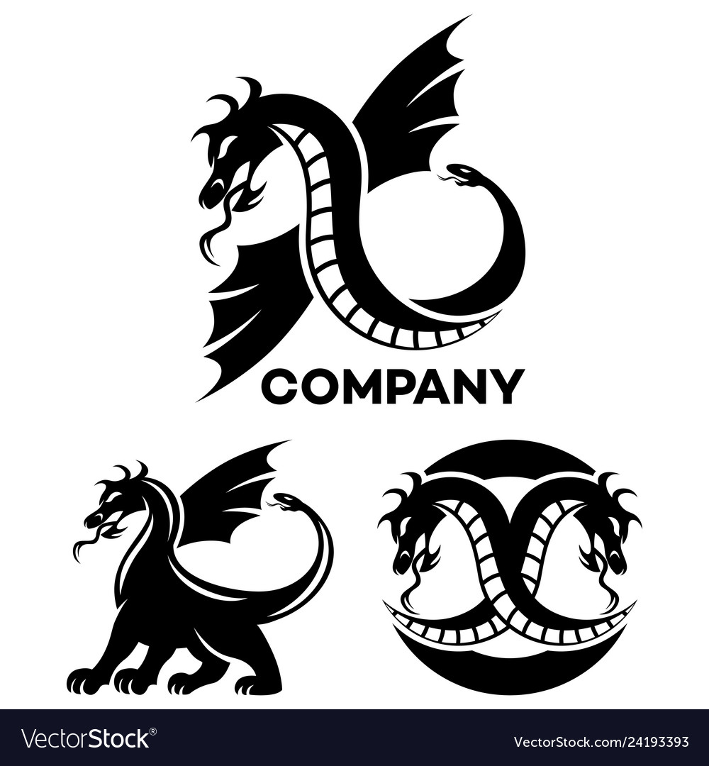 Modern dragon logo