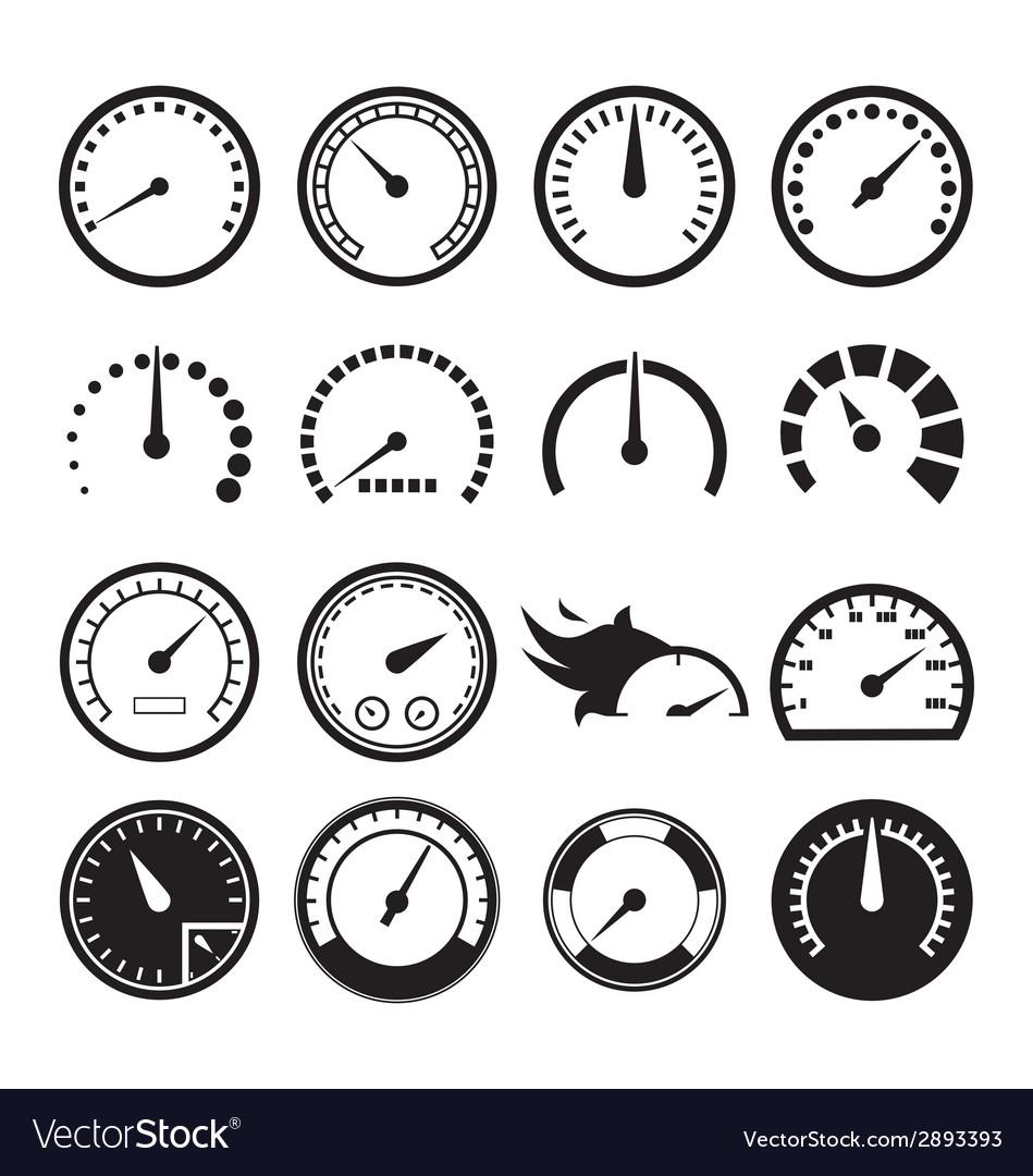 speedometer icons royalty free vector image vectorstock rh vectorstock com vector speedometer mobil speedometer vector free