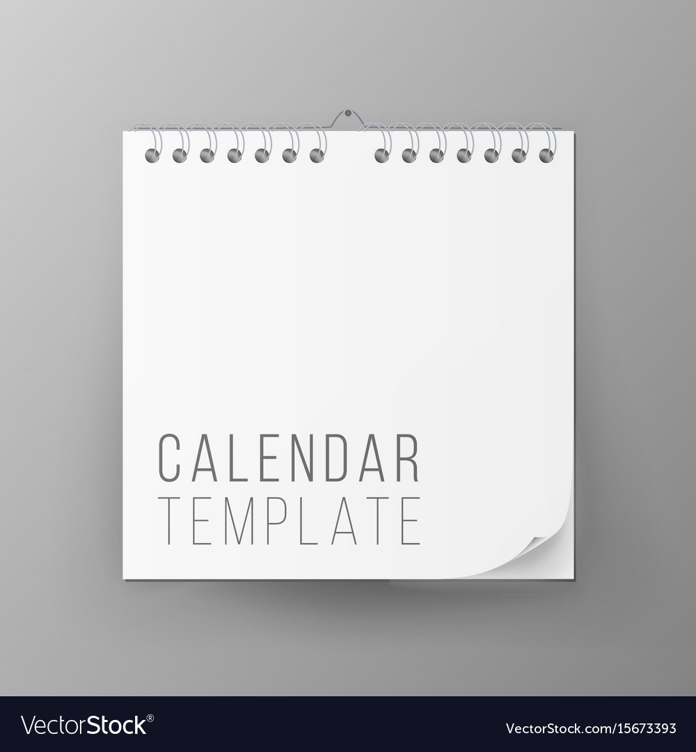Spiral calendar blank office calendar mock