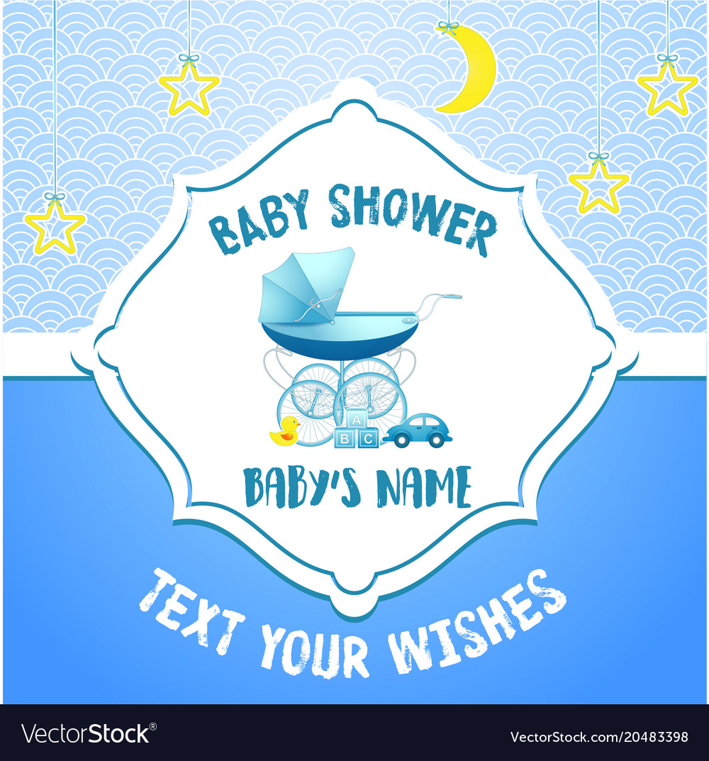 Baby Shower Invitation Card Template