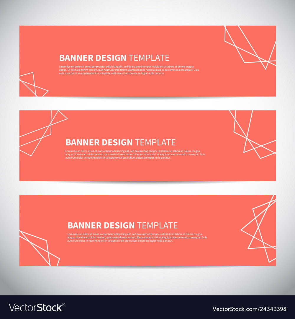 Banners or headers with trendy geometric
