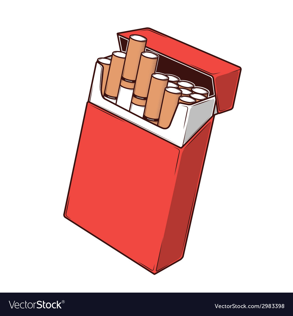 Close-up cigarettes in a red packet