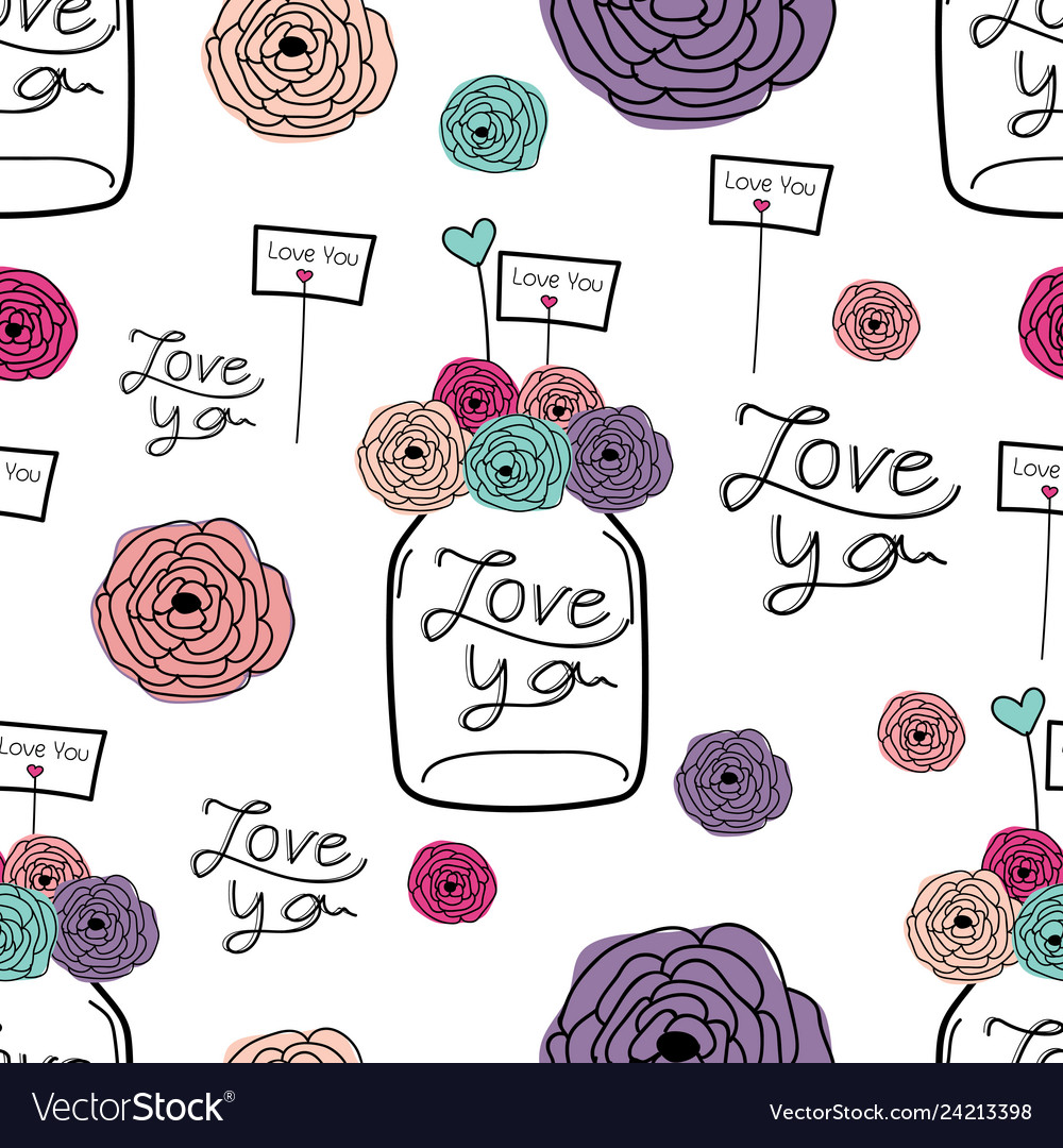 Lovely pattern background hand drawn fabric