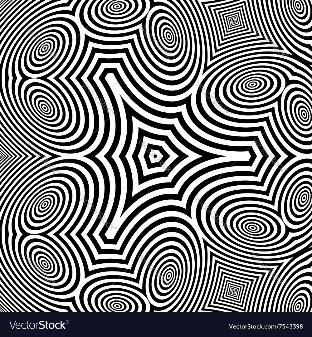 Pattern With Optical Abstract Background vector image