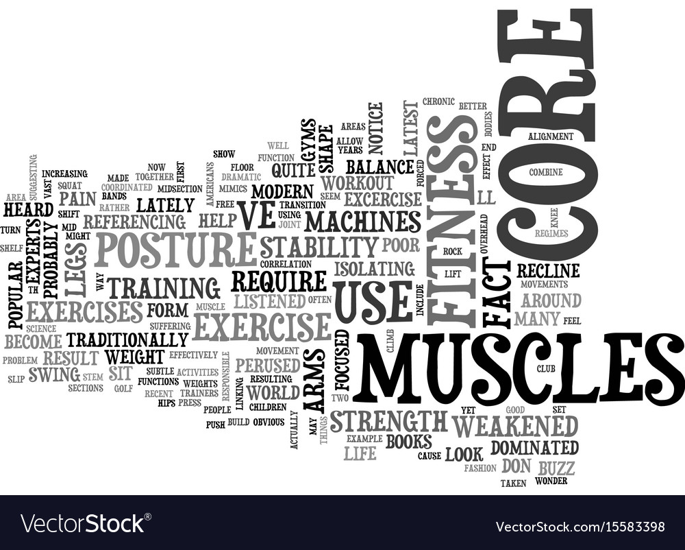 Why core fitness is important text word cloud