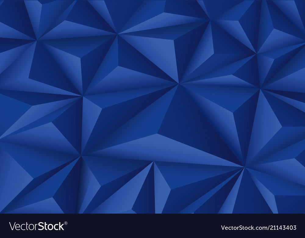 Abstract blue triangle polygon pattern luxury