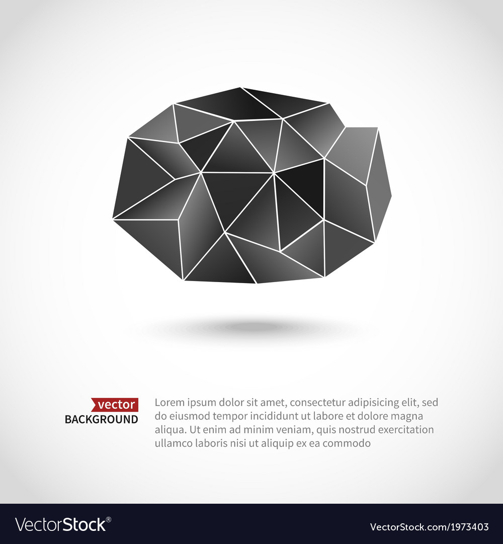 Abstract triangle cloud vector image