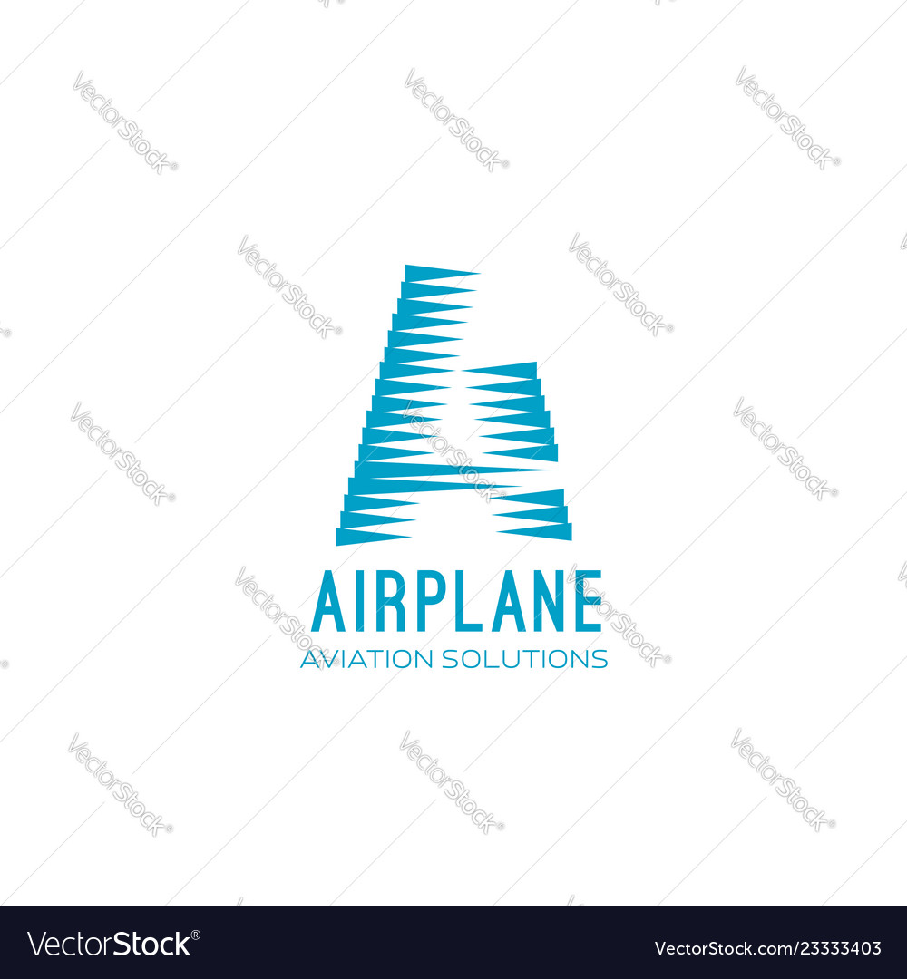 Airplane aviation sign