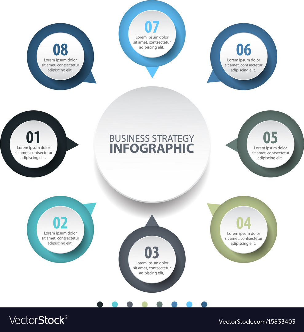 Basic business infographics design template