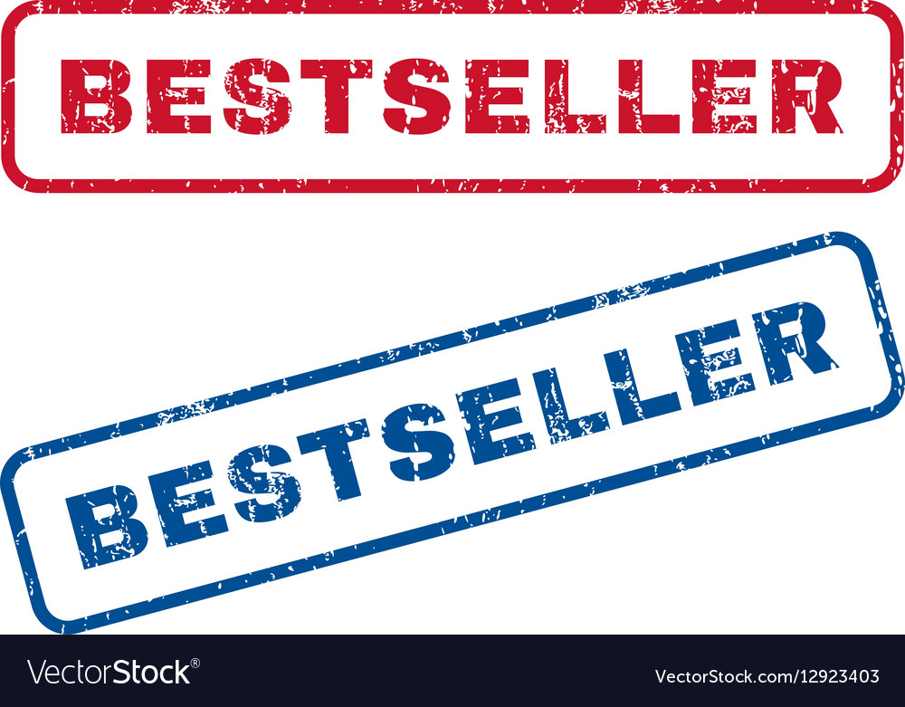 Bestseller Rubber Stamps vector image