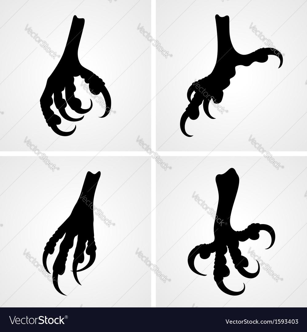 Bird claws vector image