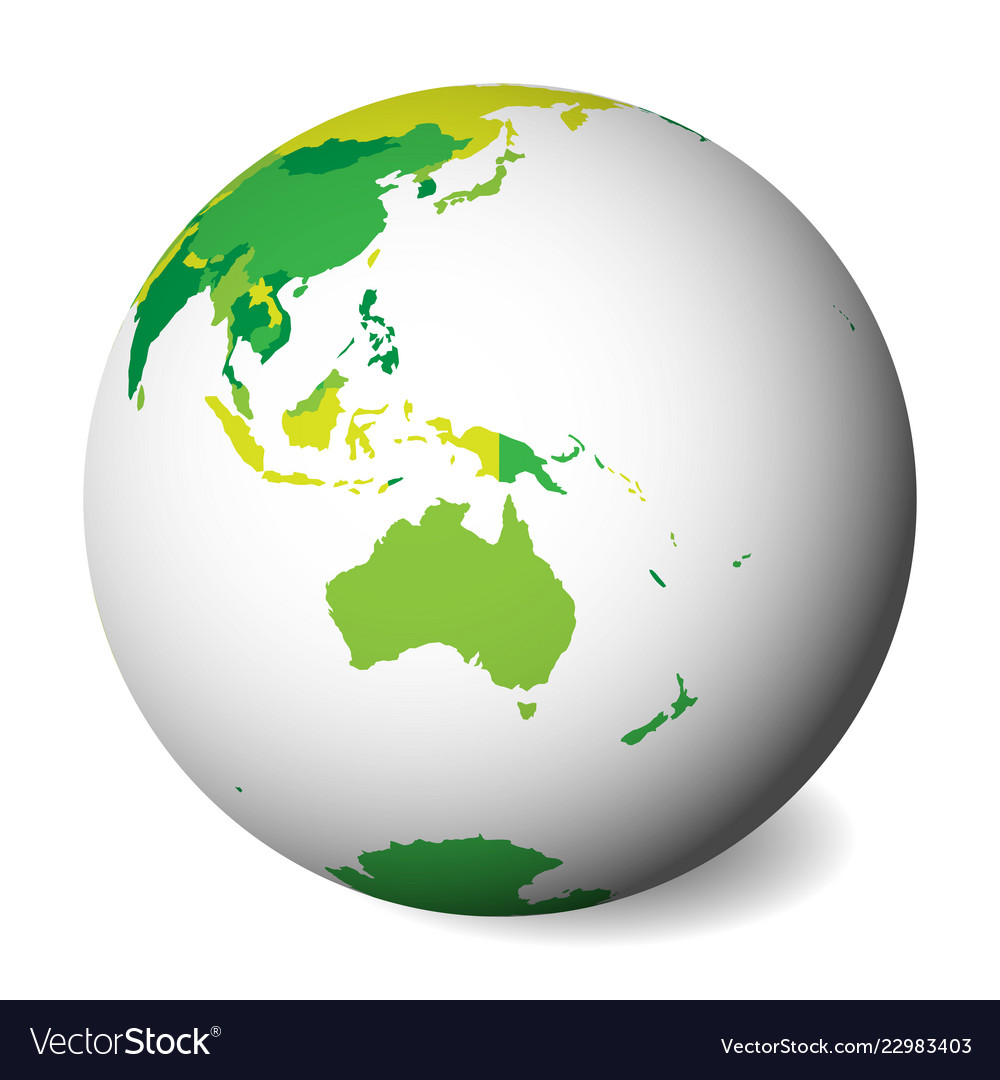 Australia Map Globe.Blank Political Map Of Australia 3d Earth Globe