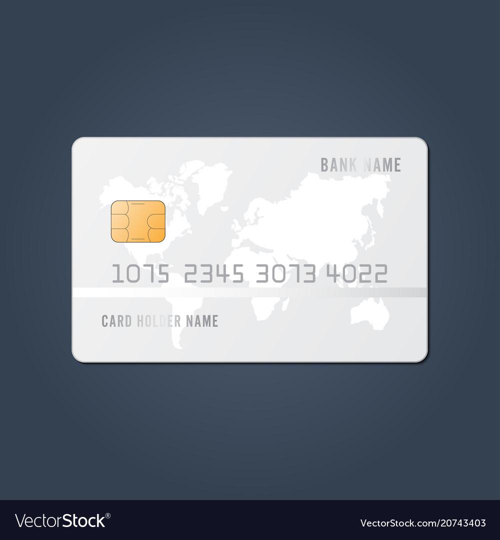 credit card realistic mockup clear plastic card vector image - Plastic Credit Card