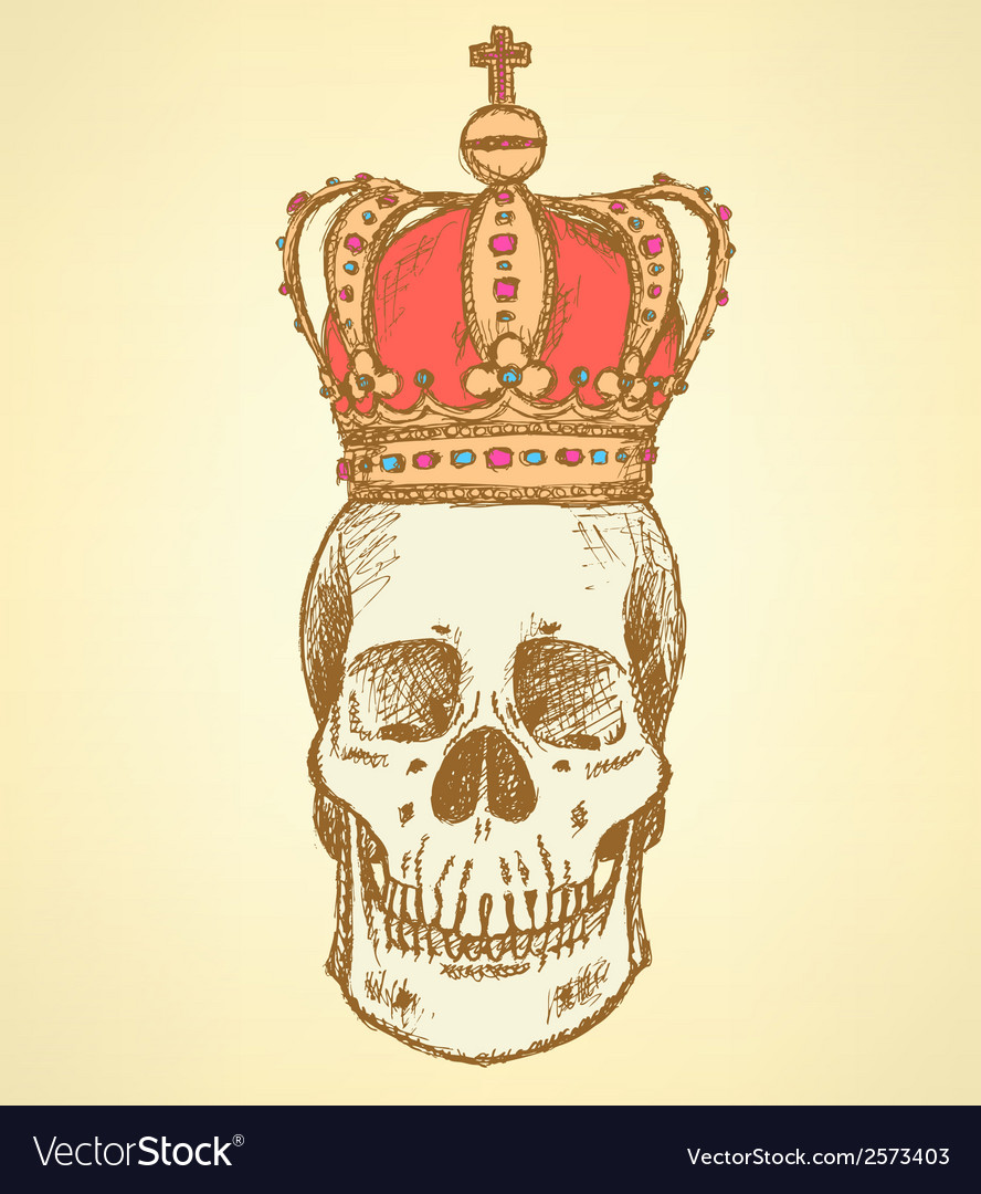 Crown Scull vector image