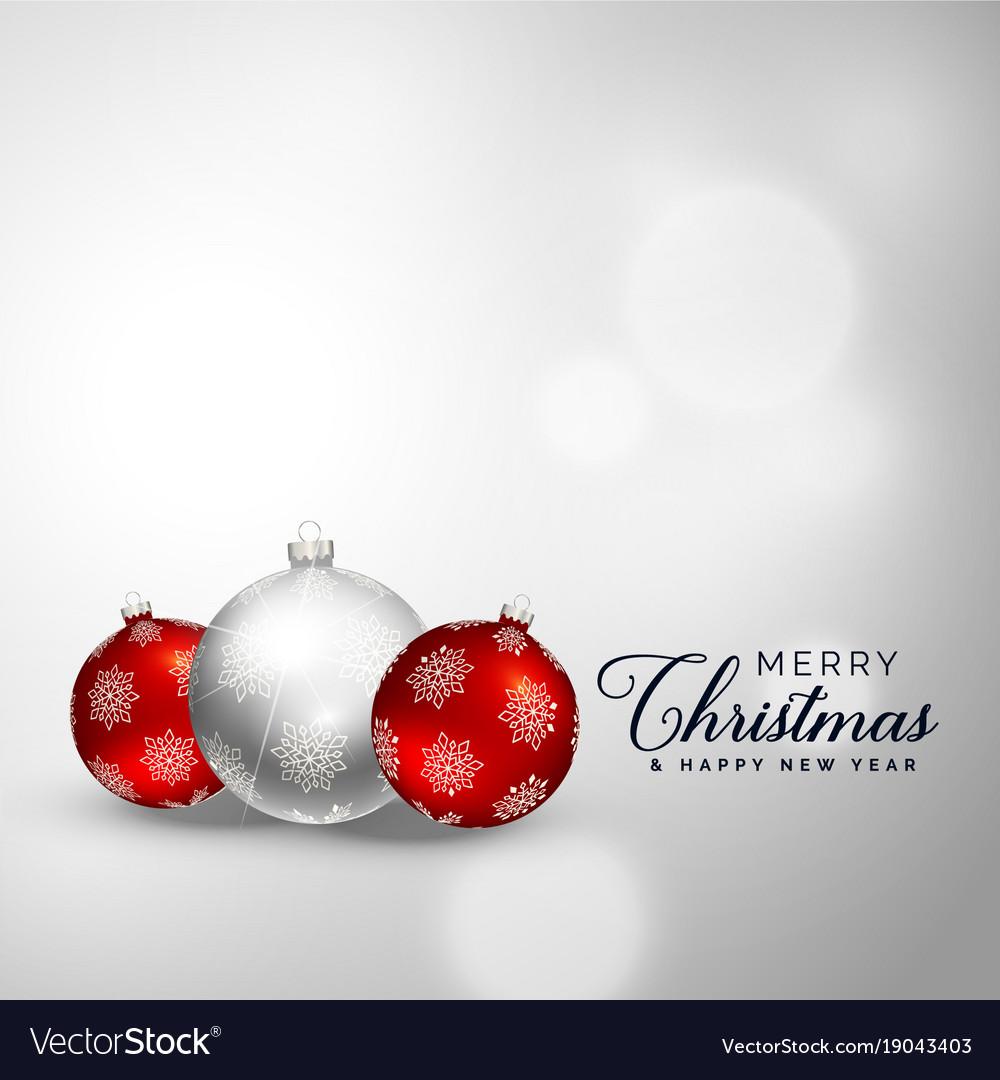 Elegant merry christmas decoration balls