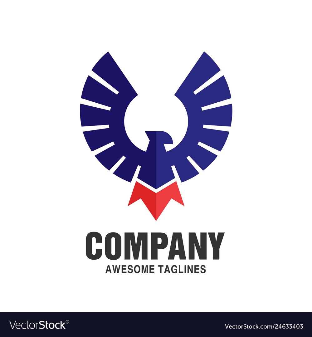 Falcon eagle bird color logo