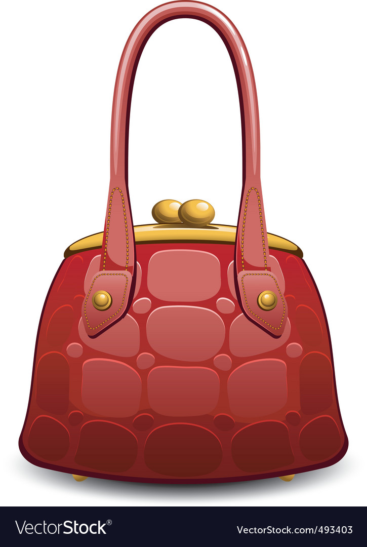 Hand bag vector image
