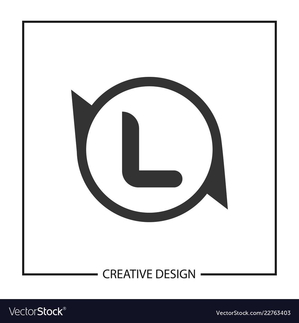 initial letter l logo template design vector image
