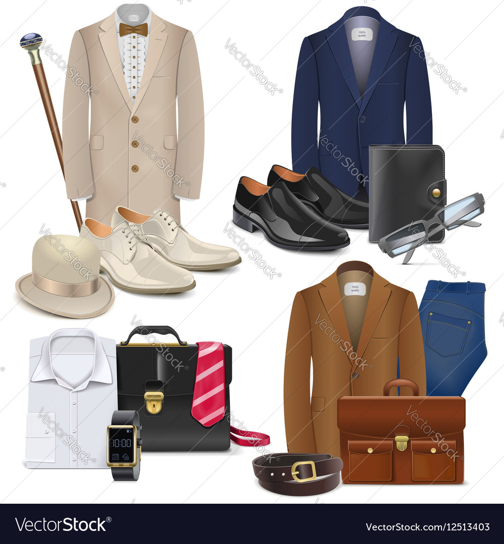 Male Fashion Accessories Set 3