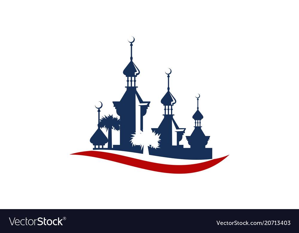 Mosque logo design template