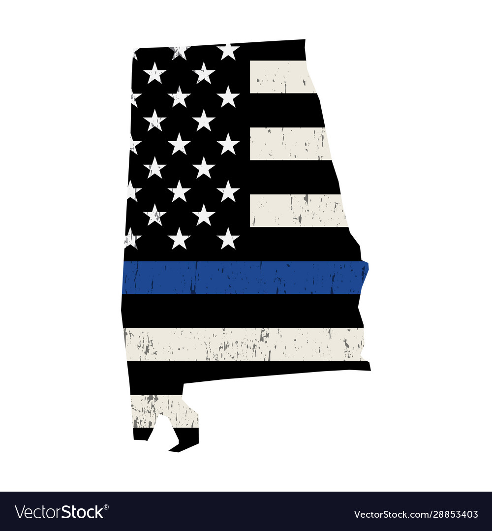 State alabama police support flag