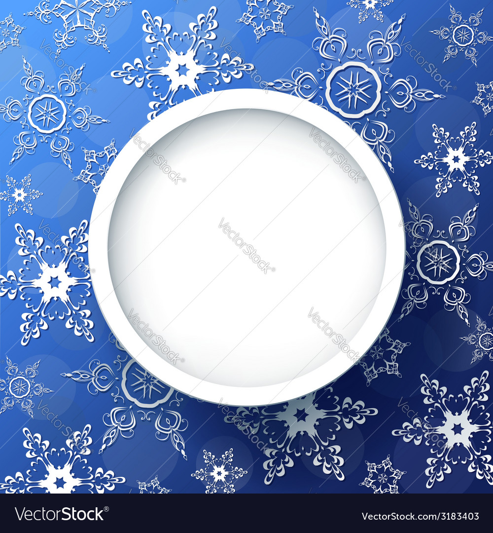 Winter background with decorative snowflakes