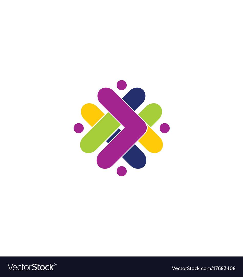 Abstract shape arrow color logo