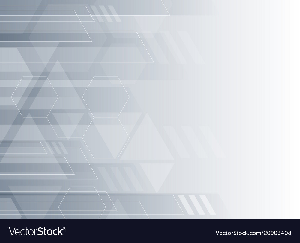 Abstract technology gray and white geometric