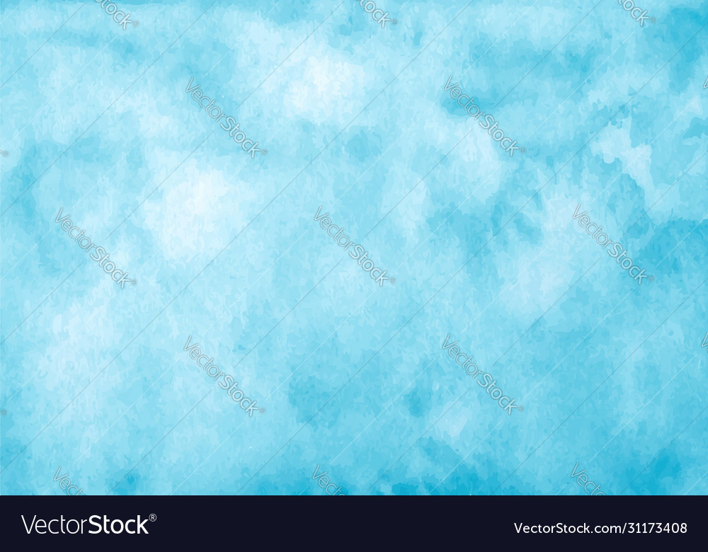 Blue watercolor background abstract hand paint