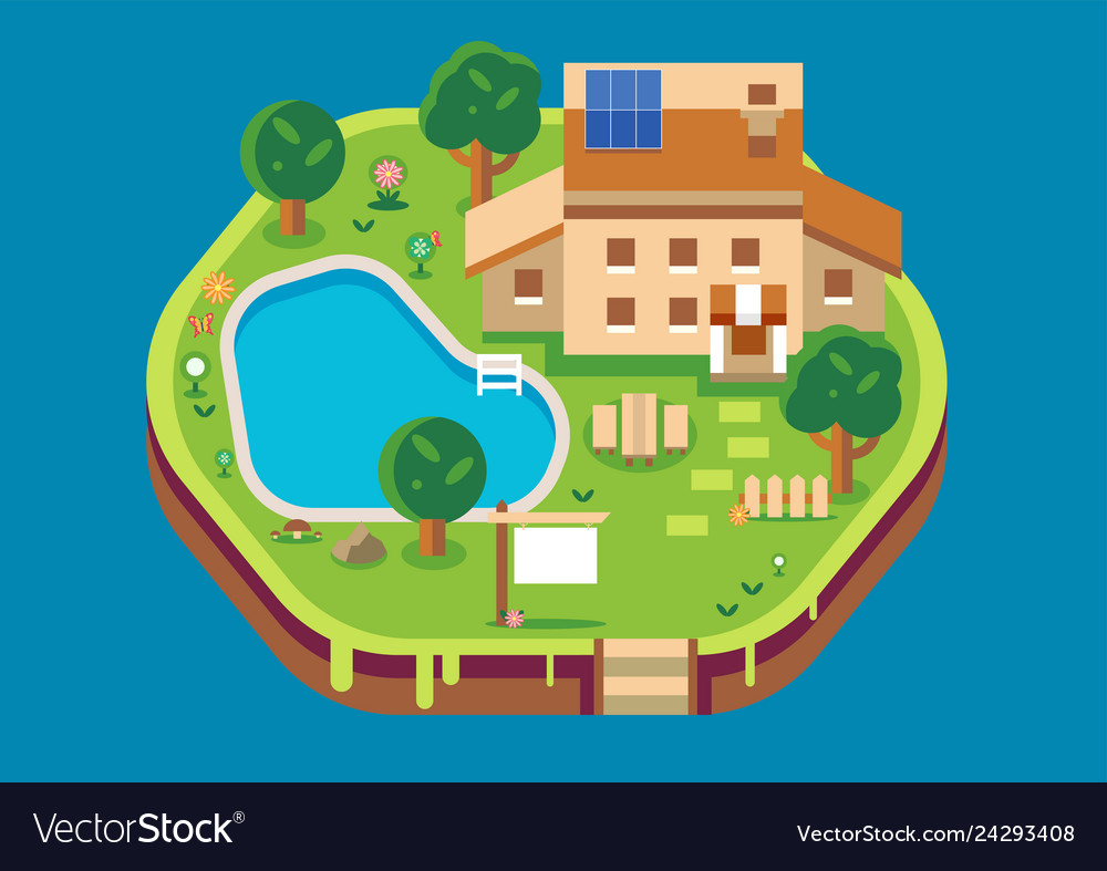 Home isometric flat style design architecture