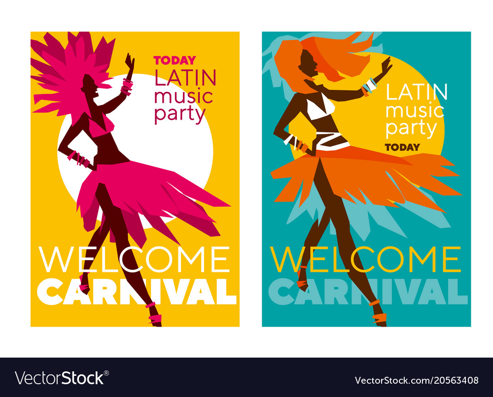 Latin music carnival poster