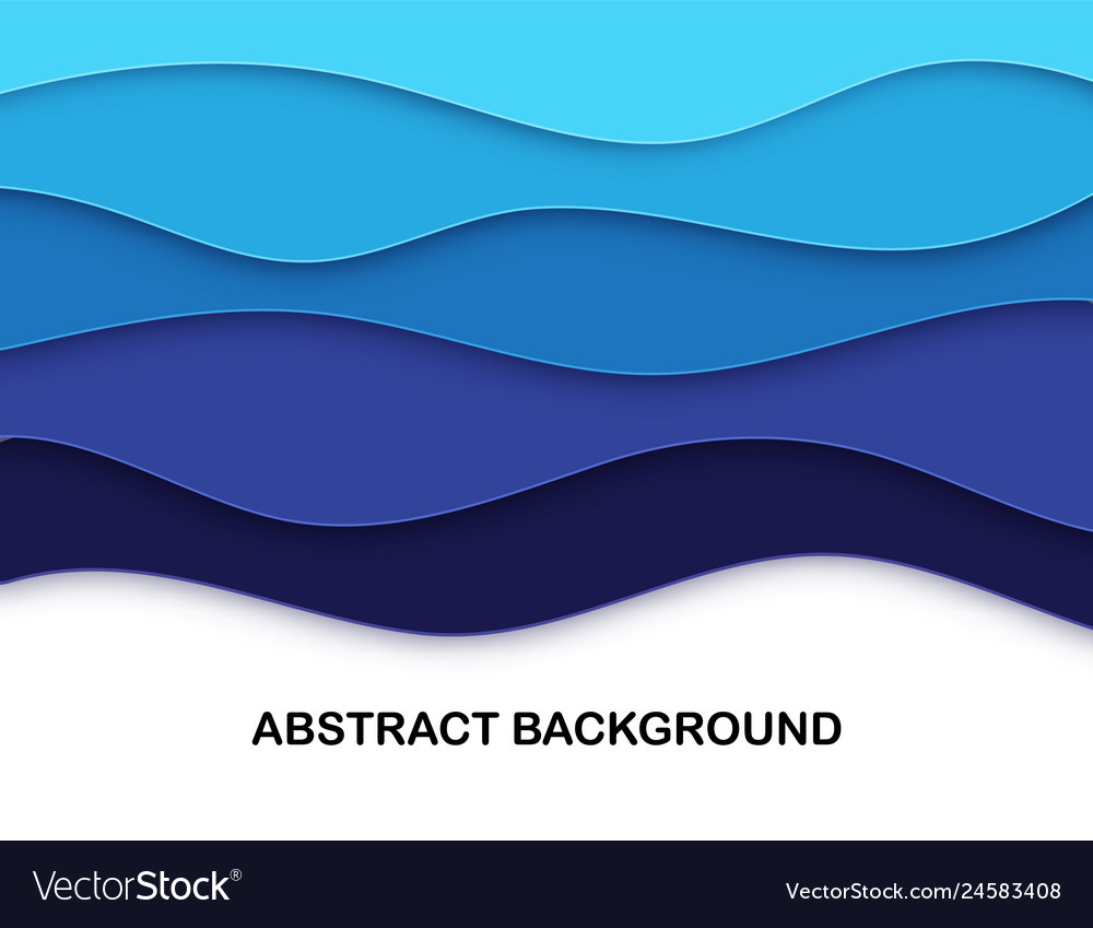 Layered paper cut shapes 3d abstract background