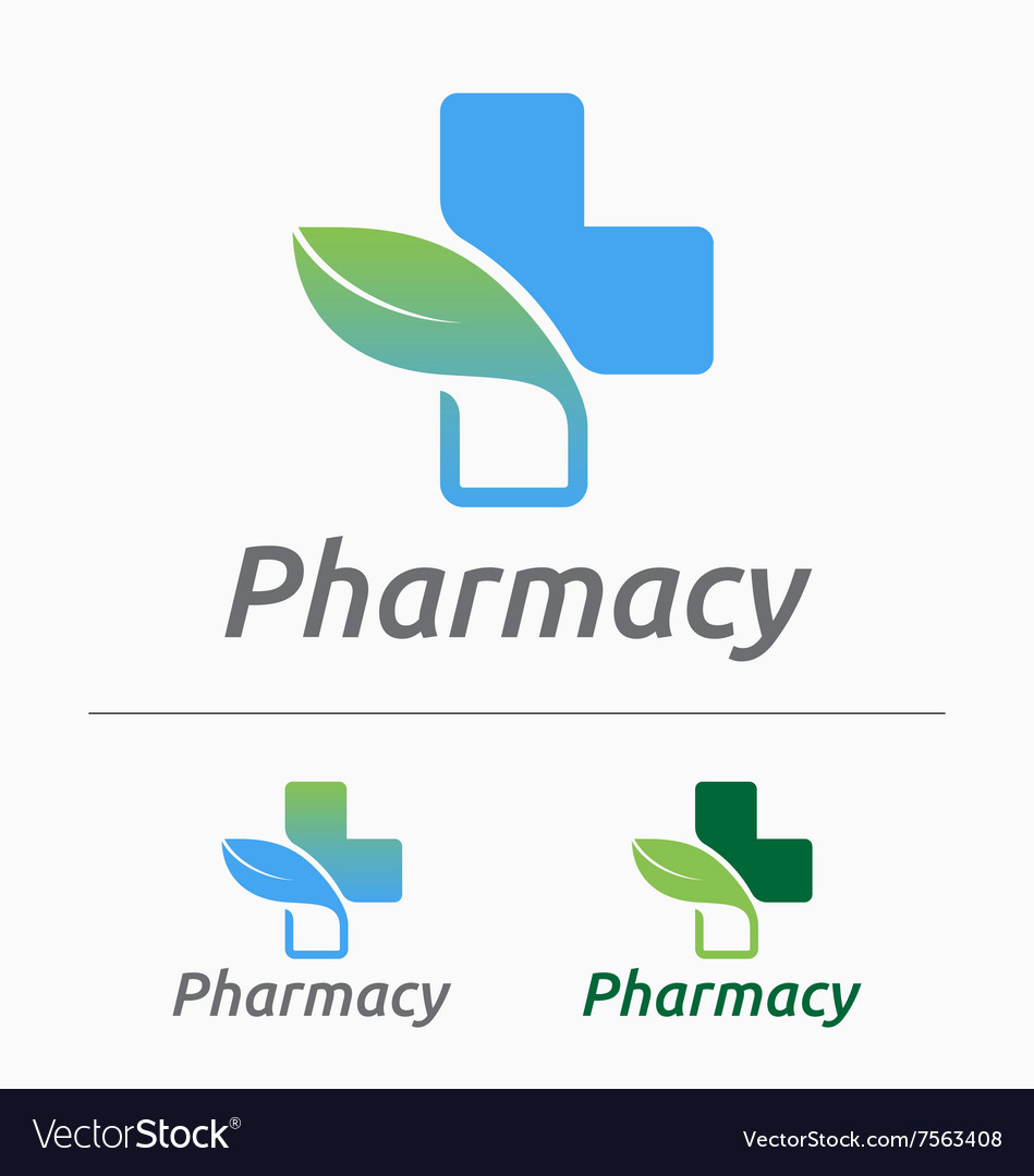 medical pharmacy logo design royalty free vector image rh vectorstock com pharmacy logo design png pharmacy graphic design