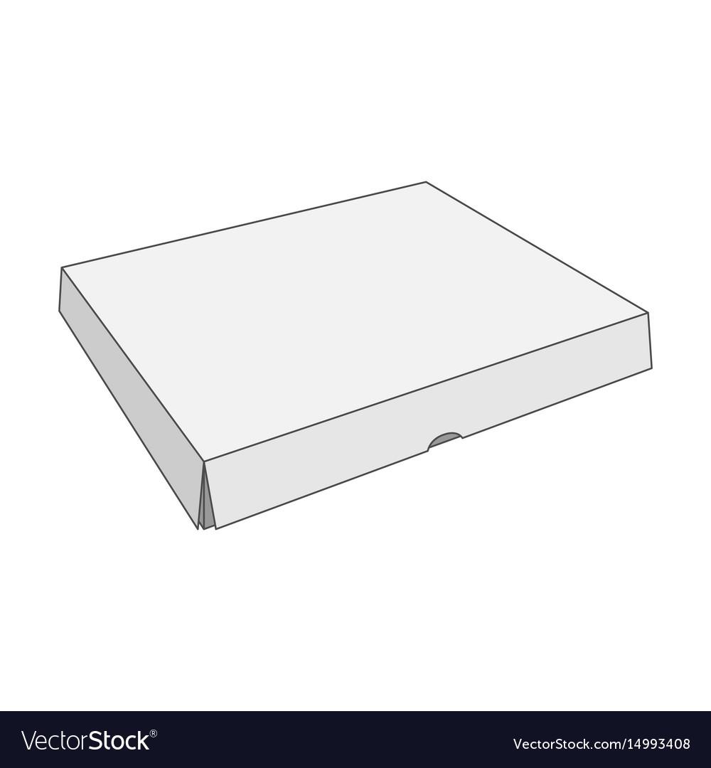 Paper white box template vector image