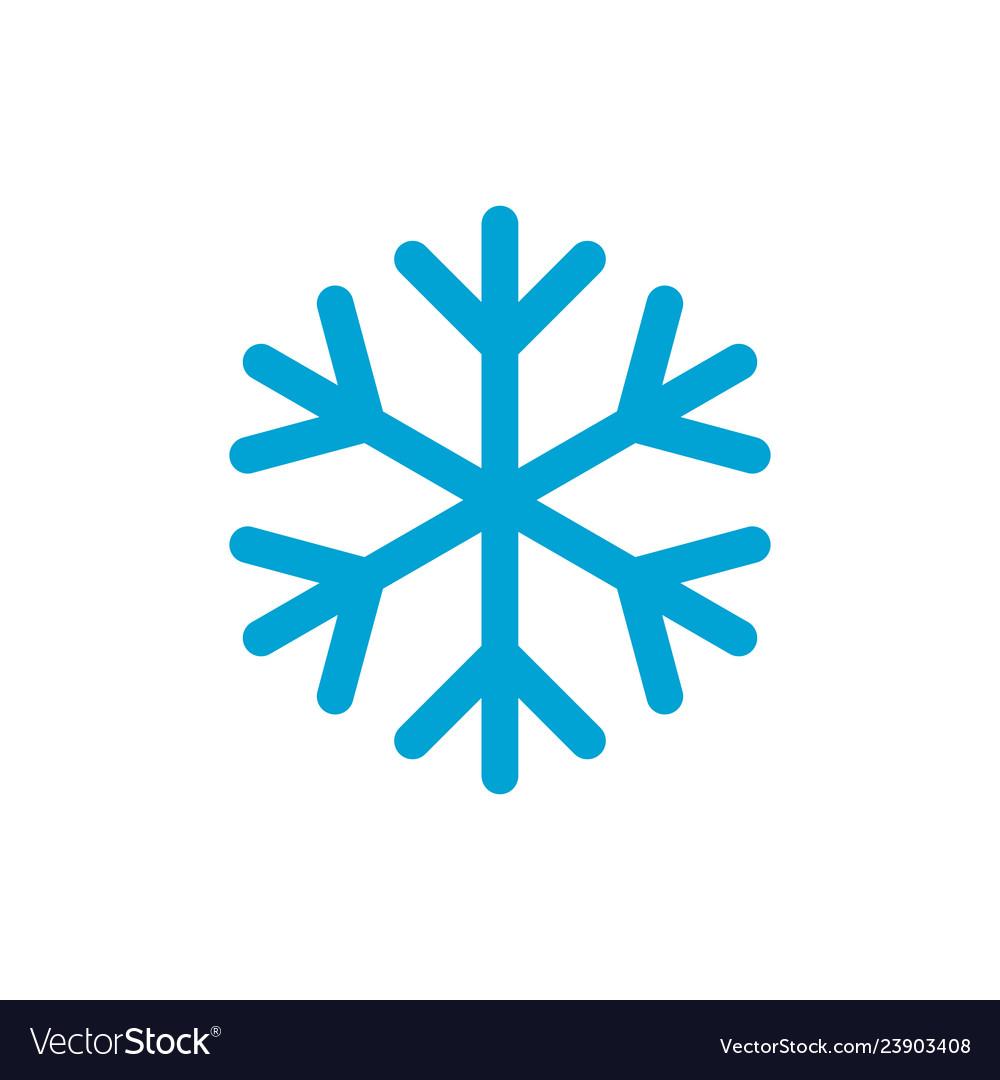 Snowflake simple blue color icon