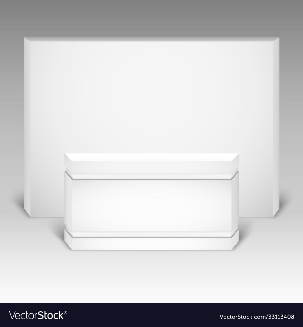 Trade exhibition stand mock up isolated on white