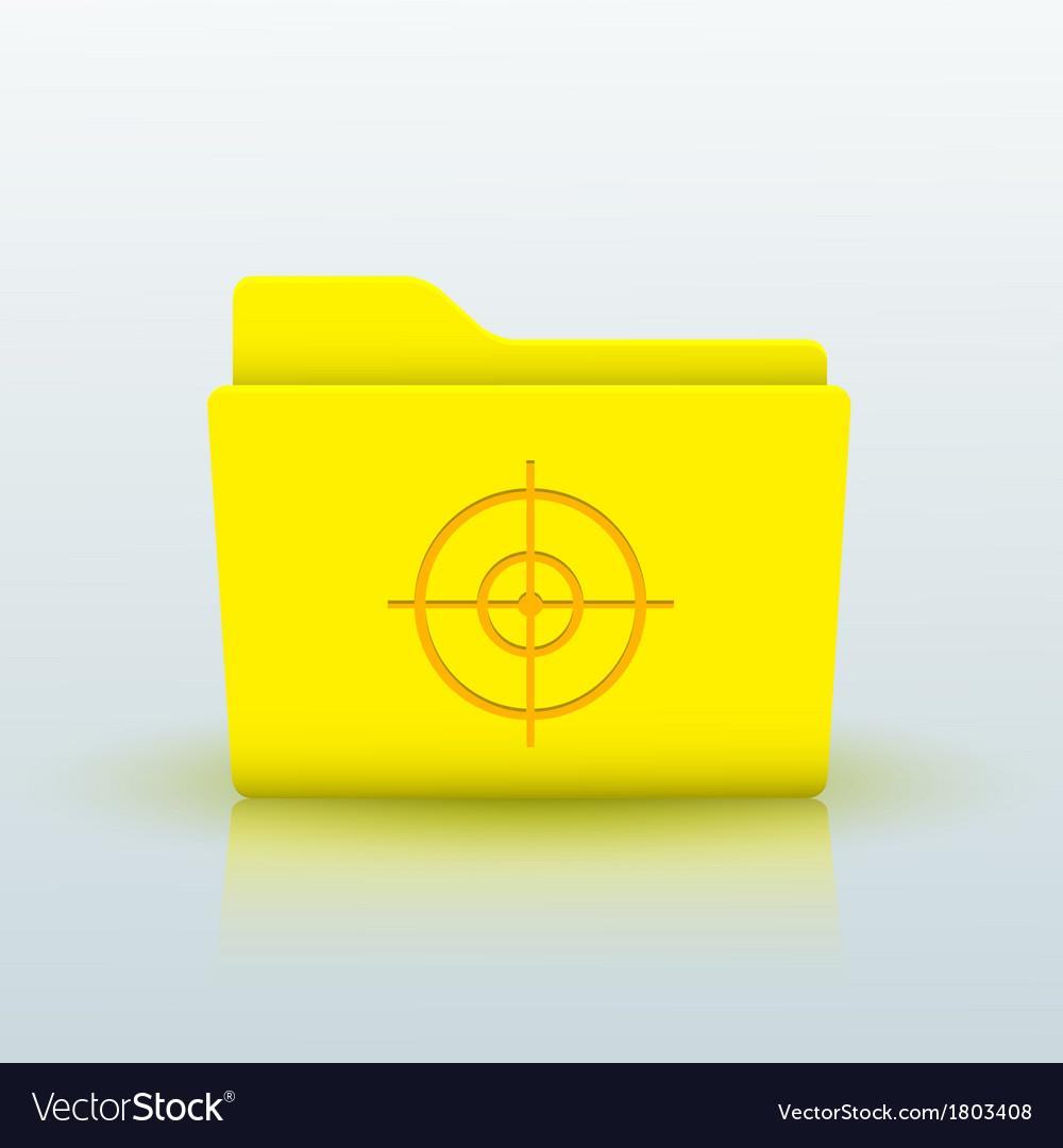 Yellow folder on blue background eps10