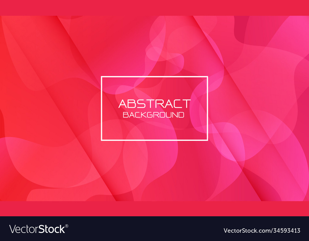 Abstract red pink geometric curve shape white